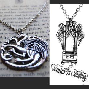 Jewelry - 2 necklaces Targaryen khaleesi game throne jewelry